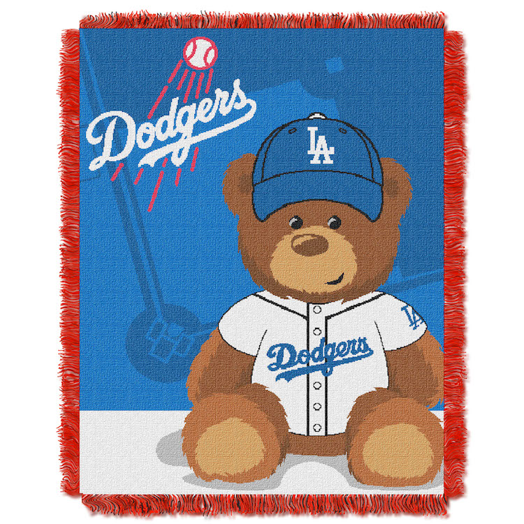 Los Angeles Dodgers Woven Baby Blanket 36 X 48