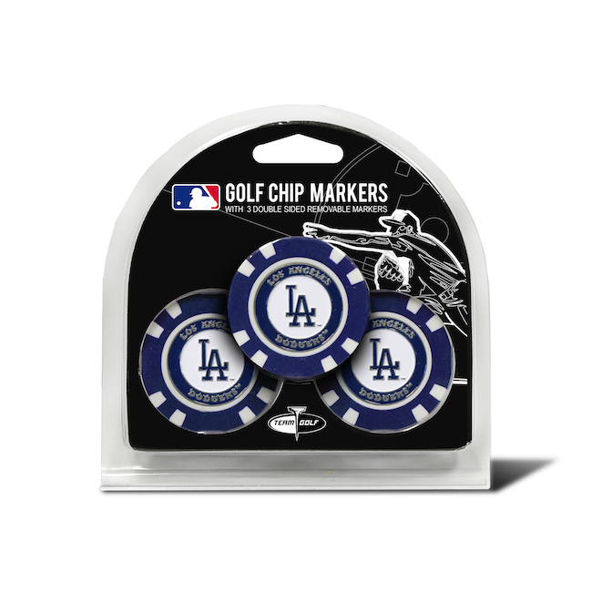 Los Angeles Dodgers 3 Pack Golf Chips