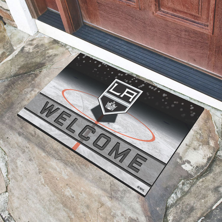 Los angeles kings recycled crumb rubber door mat buy at for Recycled building materials los angeles