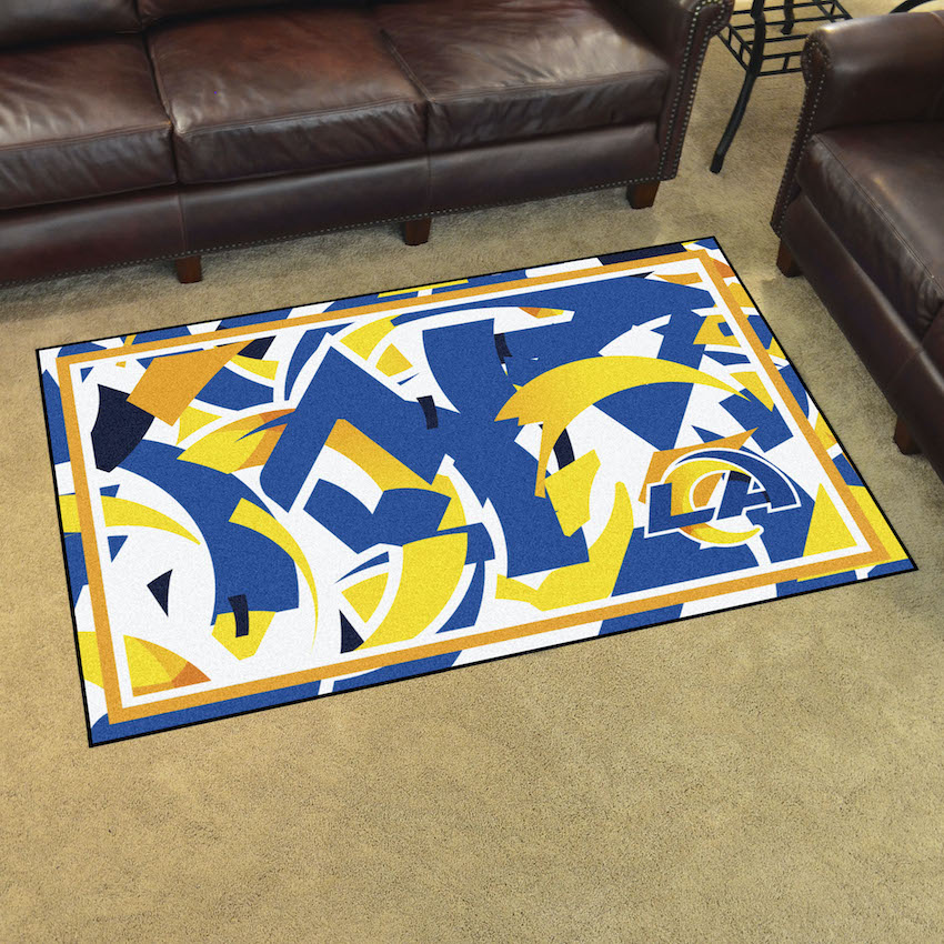 Los Angeles Rams 4x6 Quick Snap Area Rug