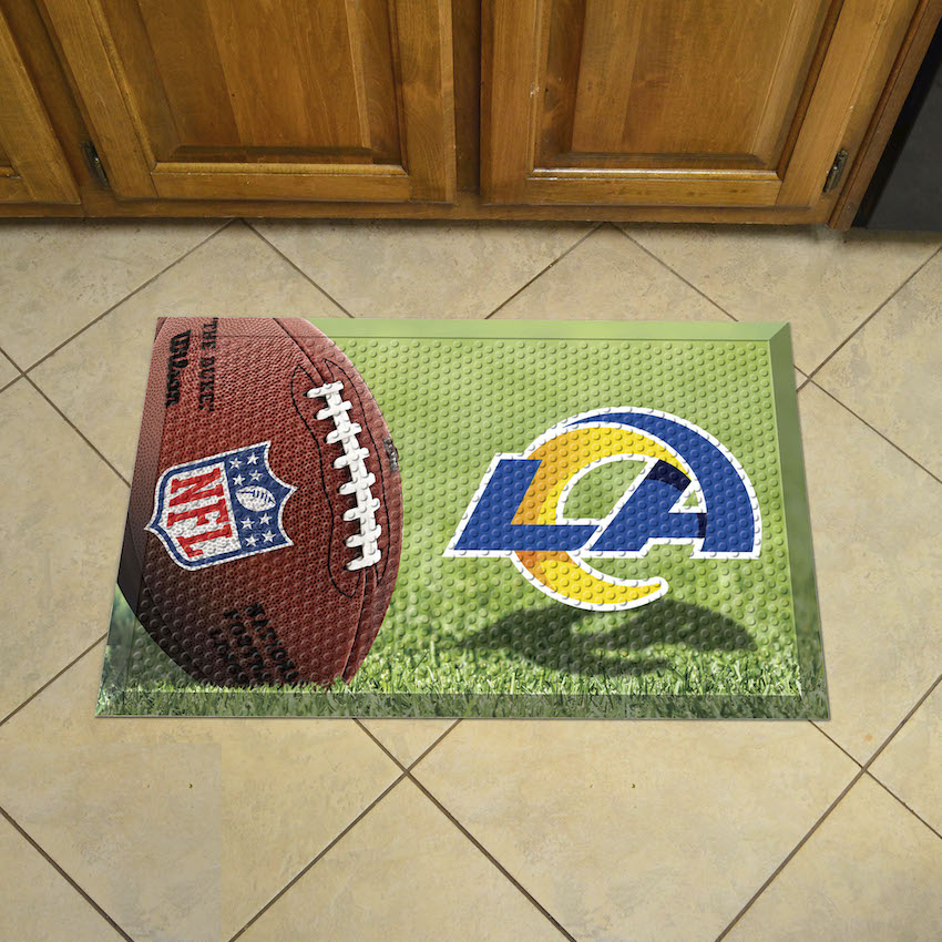 Los Angeles Rams Ball Style SCRAPER Door Mat