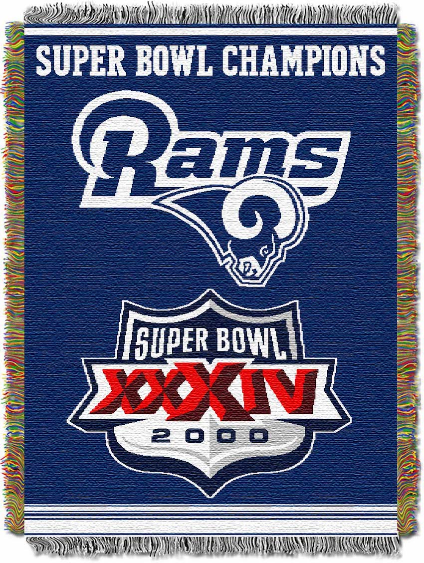 Los Angeles Rams Commemorative Super Bowl Tapestry Throw