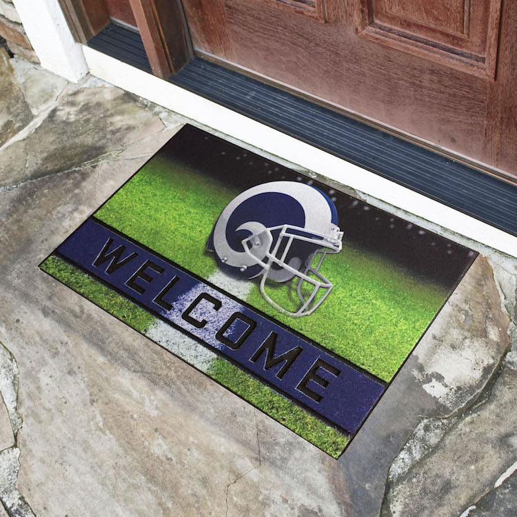 Los Angeles Rams Recycled Crumb Rubber Door Mat