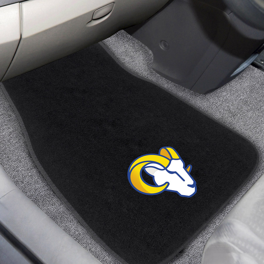 Los Angeles Rams Car Floor Mats 17 x 26 Embroidered Pair