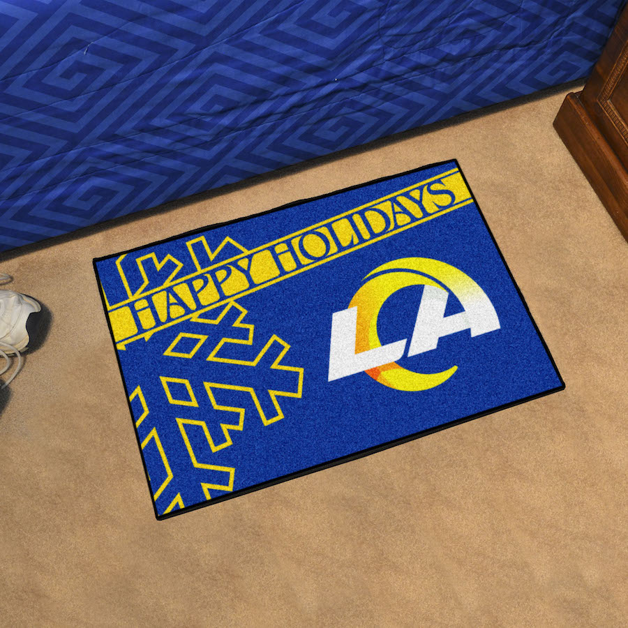 Los Angeles Rams Holiday Floor Mat