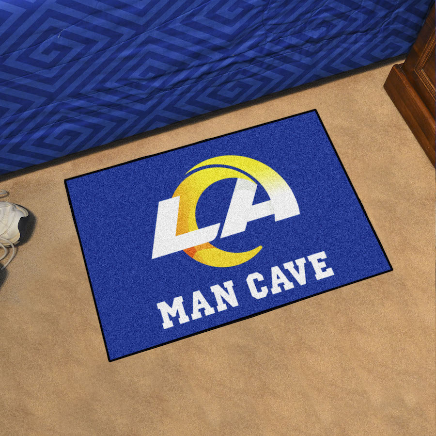 Los Angeles Rams MAN CAVE 20 x 30 STARTER Floor Mat