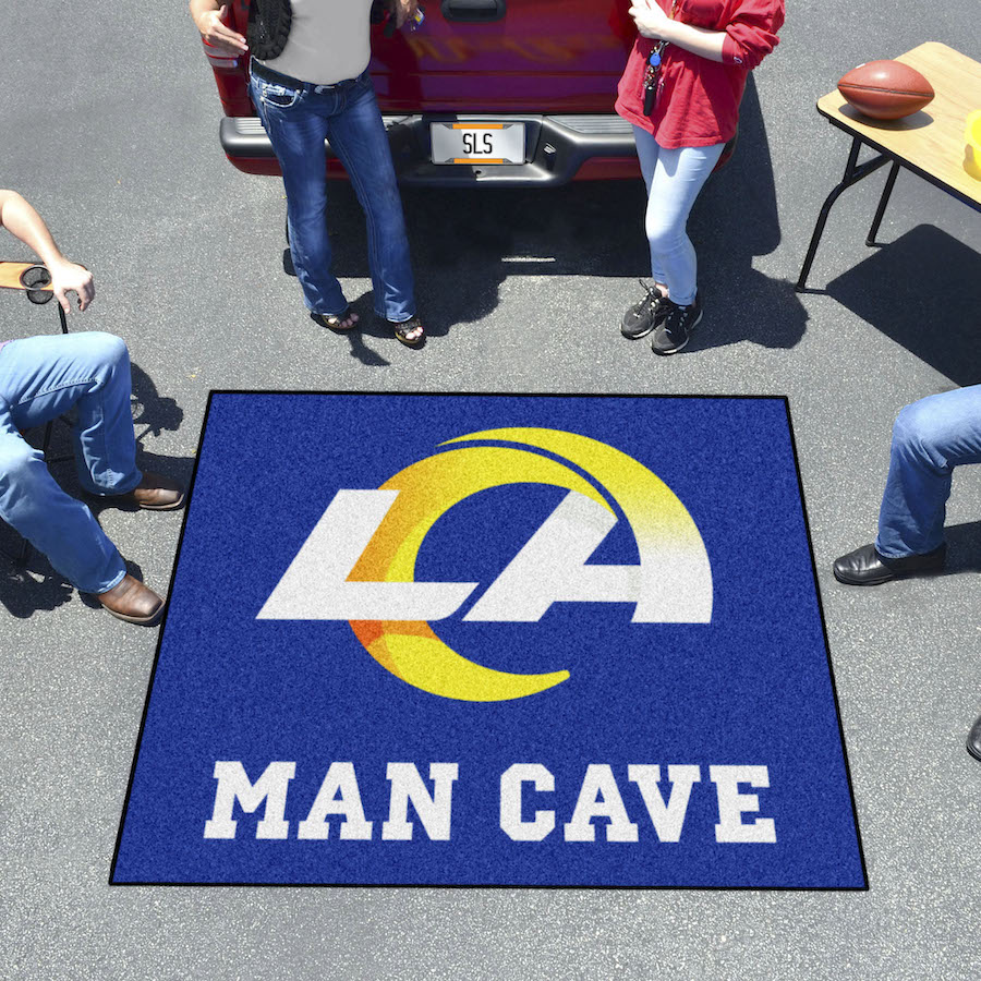 Los Angeles Rams MAN CAVE TAILGATER 60 x 72 Rug