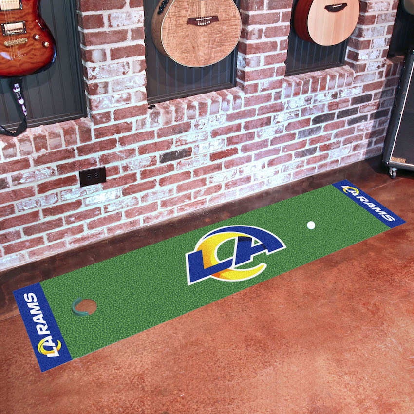 Los Angeles Rams Putting Green Mat 18 x 72