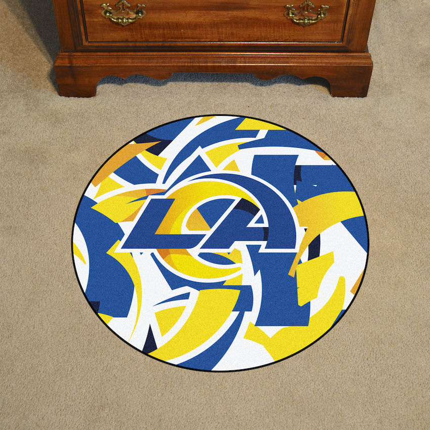 Los Angeles Rams Quick Snap Roundel Mat