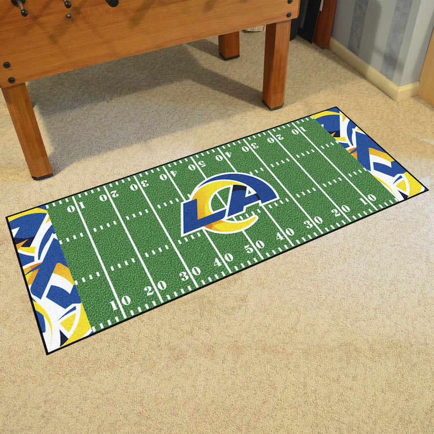 Los Angeles Rams 30 x 72 Quick Snap Football Field Carpet Runner