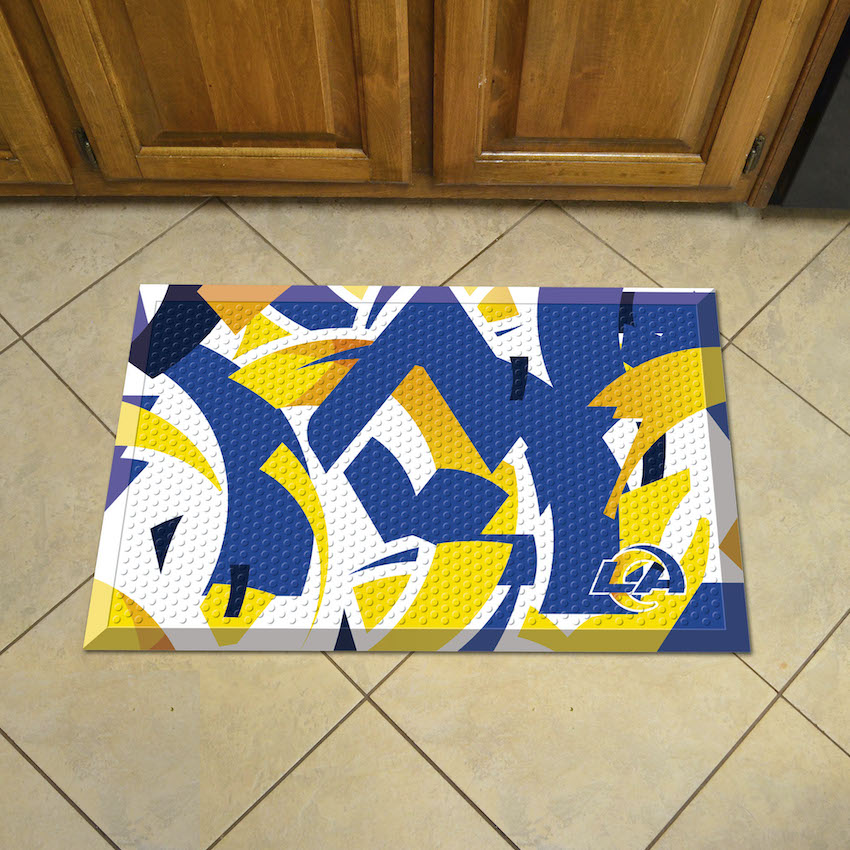 Los Angeles Rams Quick Snap Style SCRAPER Door Mat