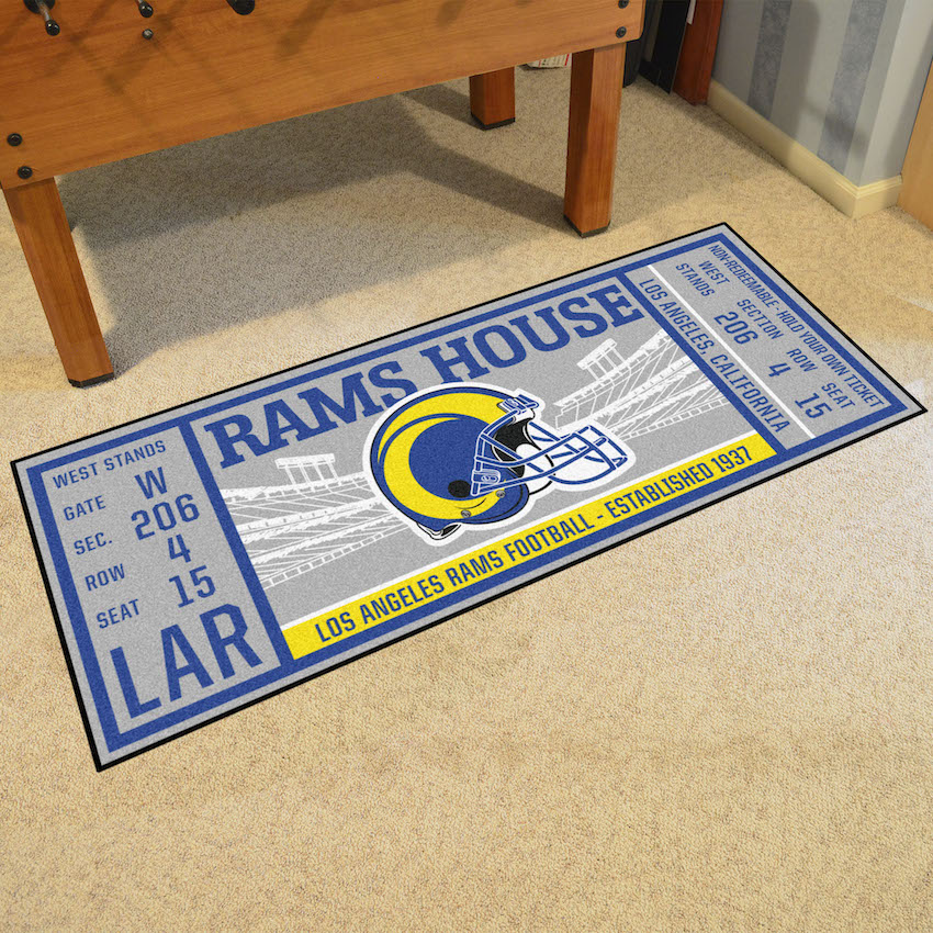 Los Angeles Rams 30 x 72 Game Ticket Carpet Runner