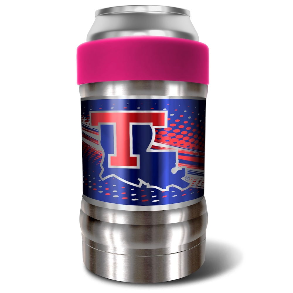 Louisiana Tech Bulldogs LOCKER NCAA Insulated Can and Bottle Holder - Pink