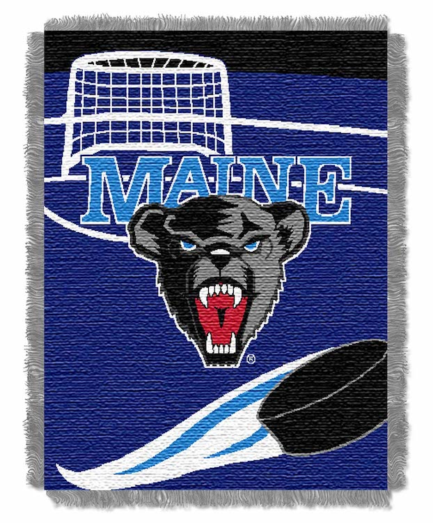 Maine Black Bears Woven Baby Blanket 36 x 48