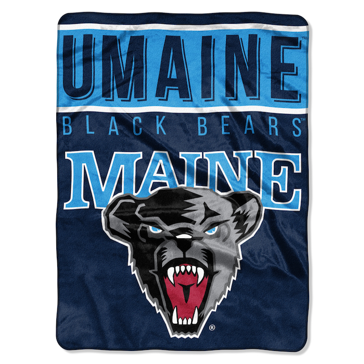 Maine Black Bears Large Plush Fleece OVERTIME 60 x 80 Blanket