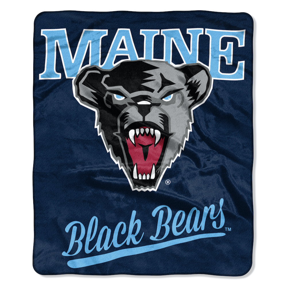 Maine Black Bears Plush Fleece Raschel Blanket 50 x 60