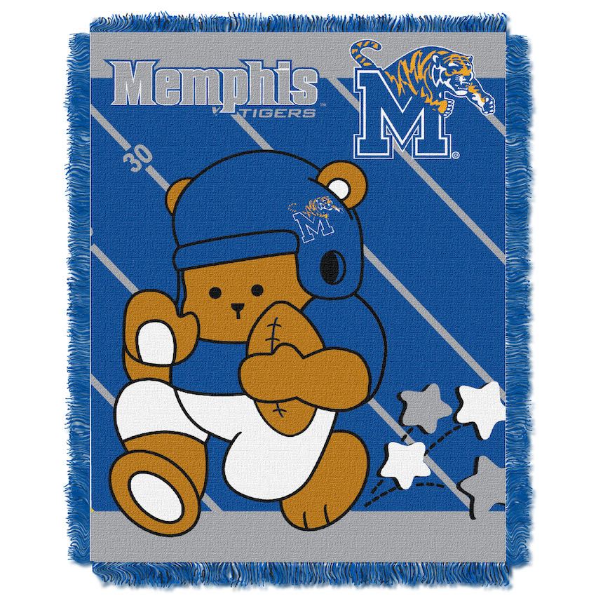Memphis Tigers Woven Baby Blanket 36 x 48