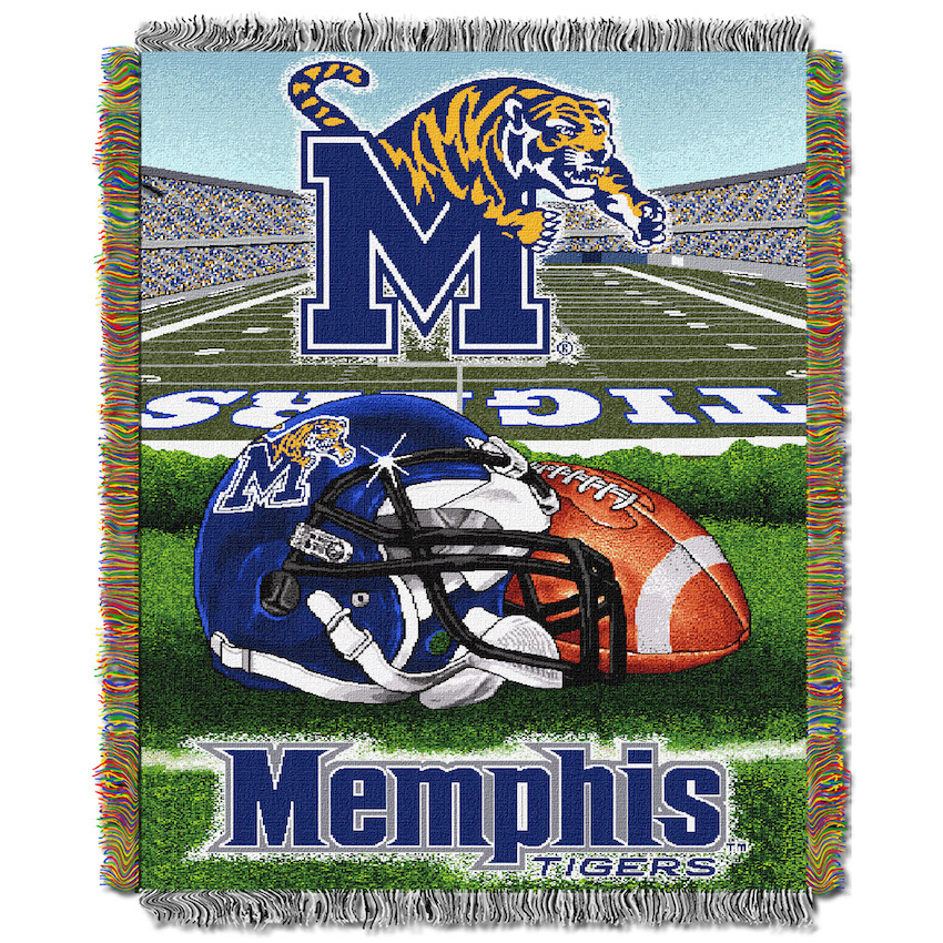 Memphis Tigers Home Field Advantage Series Tapestry Blanket 48 x 60