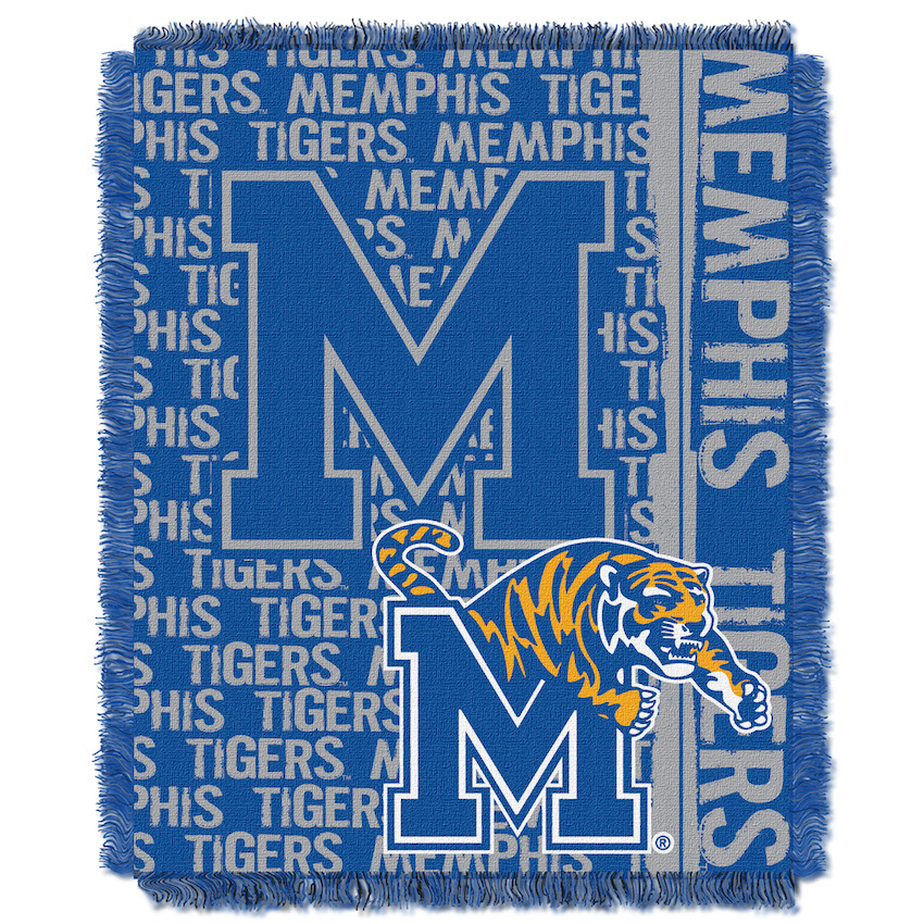 Memphis Tigers Double Play Tapestry Blanket 48 x 60