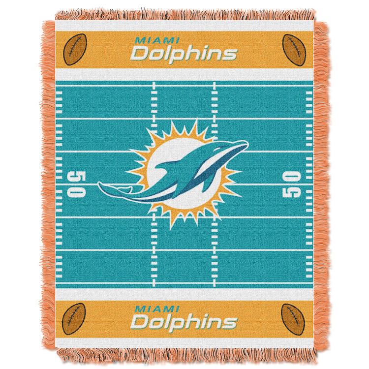 Miami Dolphins Woven Baby Blanket 36 x 48