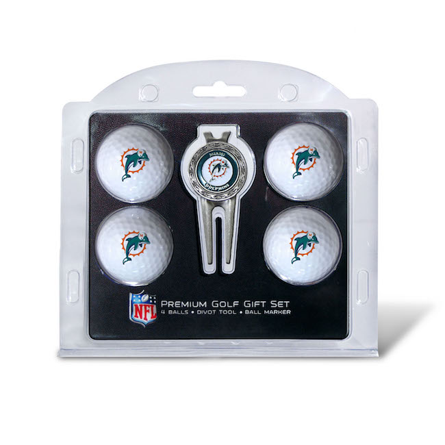Miami Dolphins 4 Golf Ball and Divot Tool Set