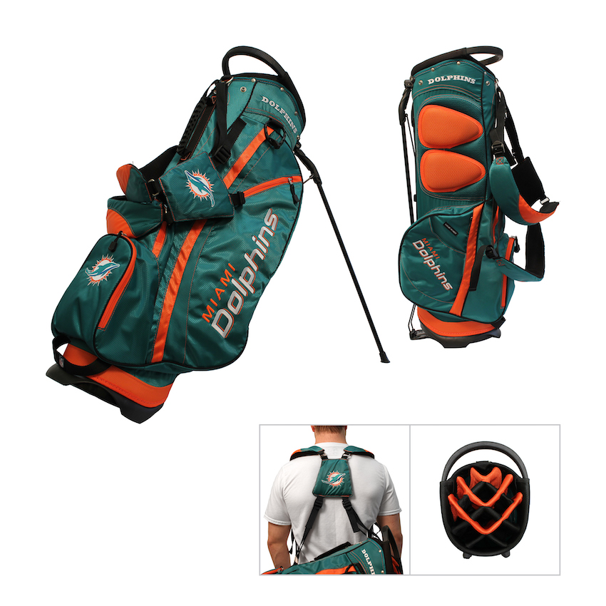 Miami Dolphins Fairway Carry Stand Golf Bag