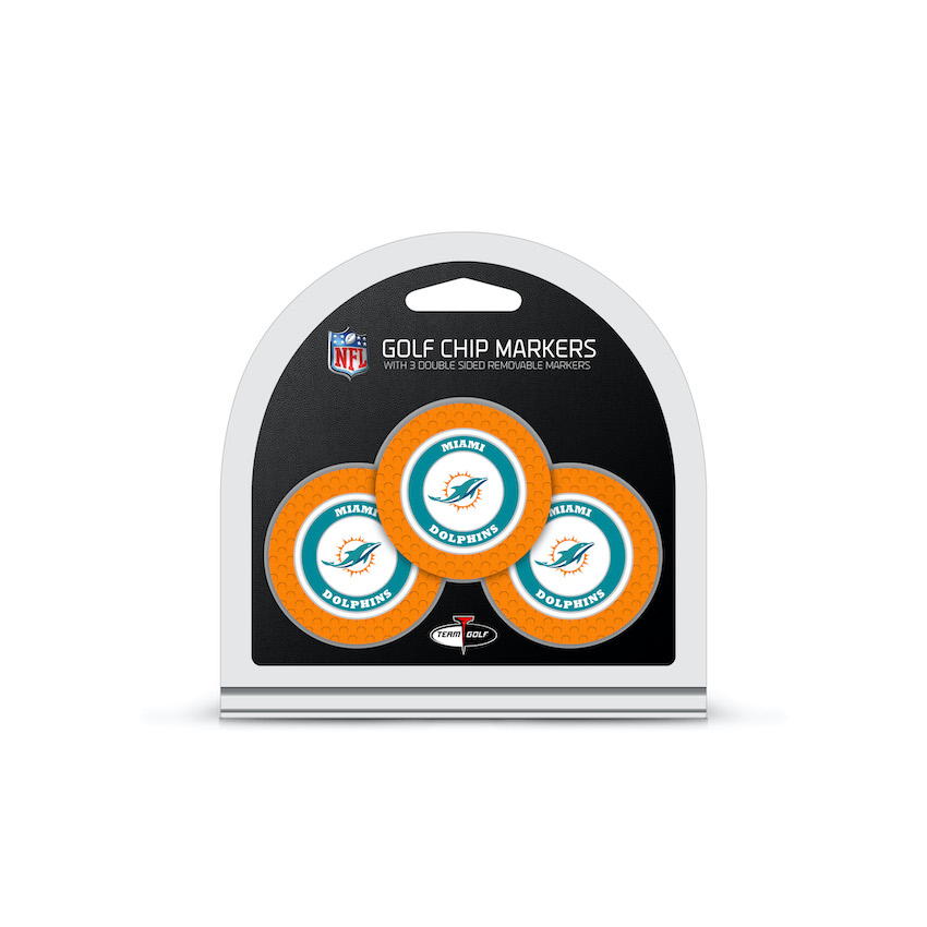 Miami Dolphins 3 Pack Golf Chips