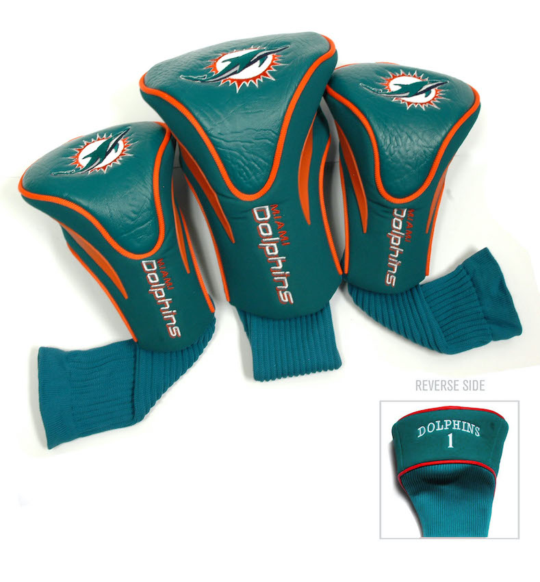 Miami Dolphins 3 Pack Contour Headcovers
