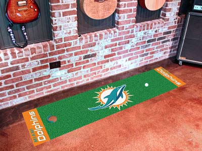 Miami Dolphins Putting Green Mat 18 x 72