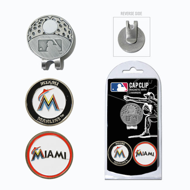 Miami Marlins Hat Clip With 2 Ball Markers