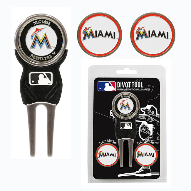 Miami Marlins 3 Marker Signature Divot Tool Pack