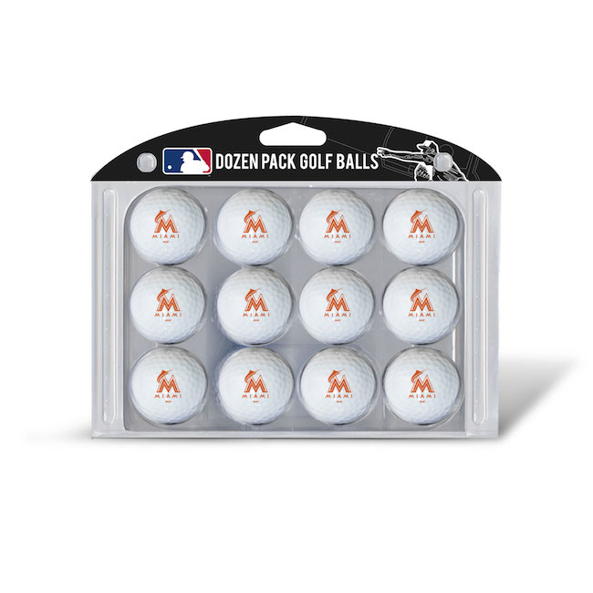 Miami Marlins Dozen Golf Ball Pack