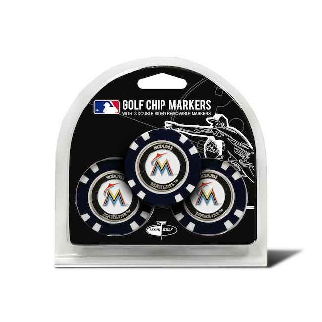 Miami Marlins 3 Pack Golf Chips