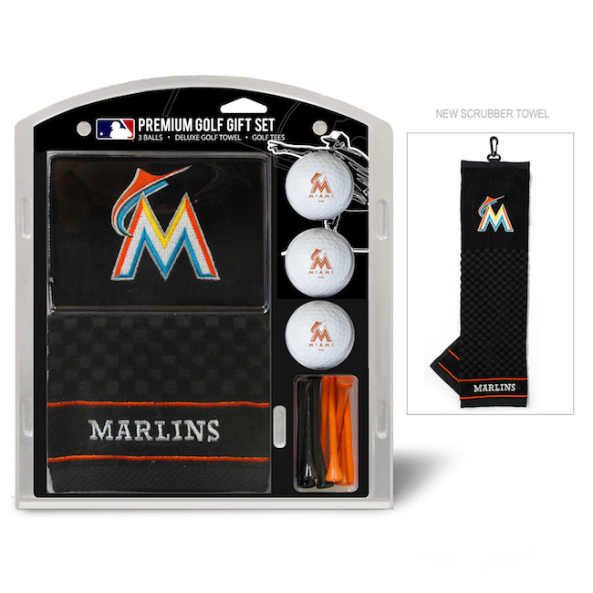Miami Marlins Premium Golf Gift Set