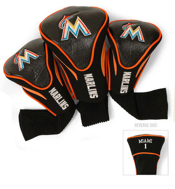Miami Marlins 3 Pack Contour Headcovers
