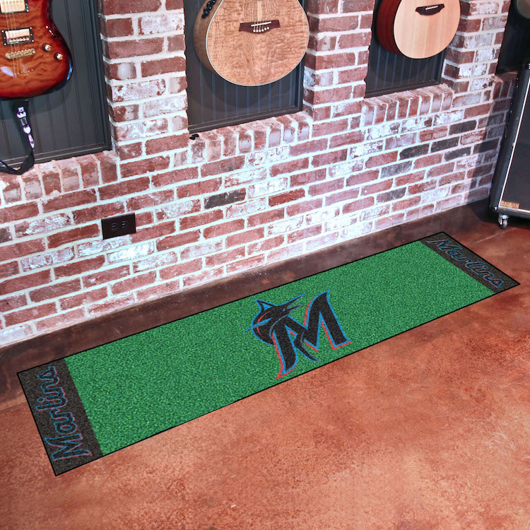 Miami Marlins Putting Green Mat 18 x 72