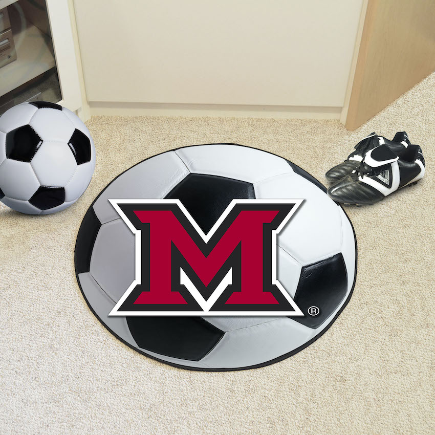 Miami of Ohio Red Hawks SOCCER BALL Mat