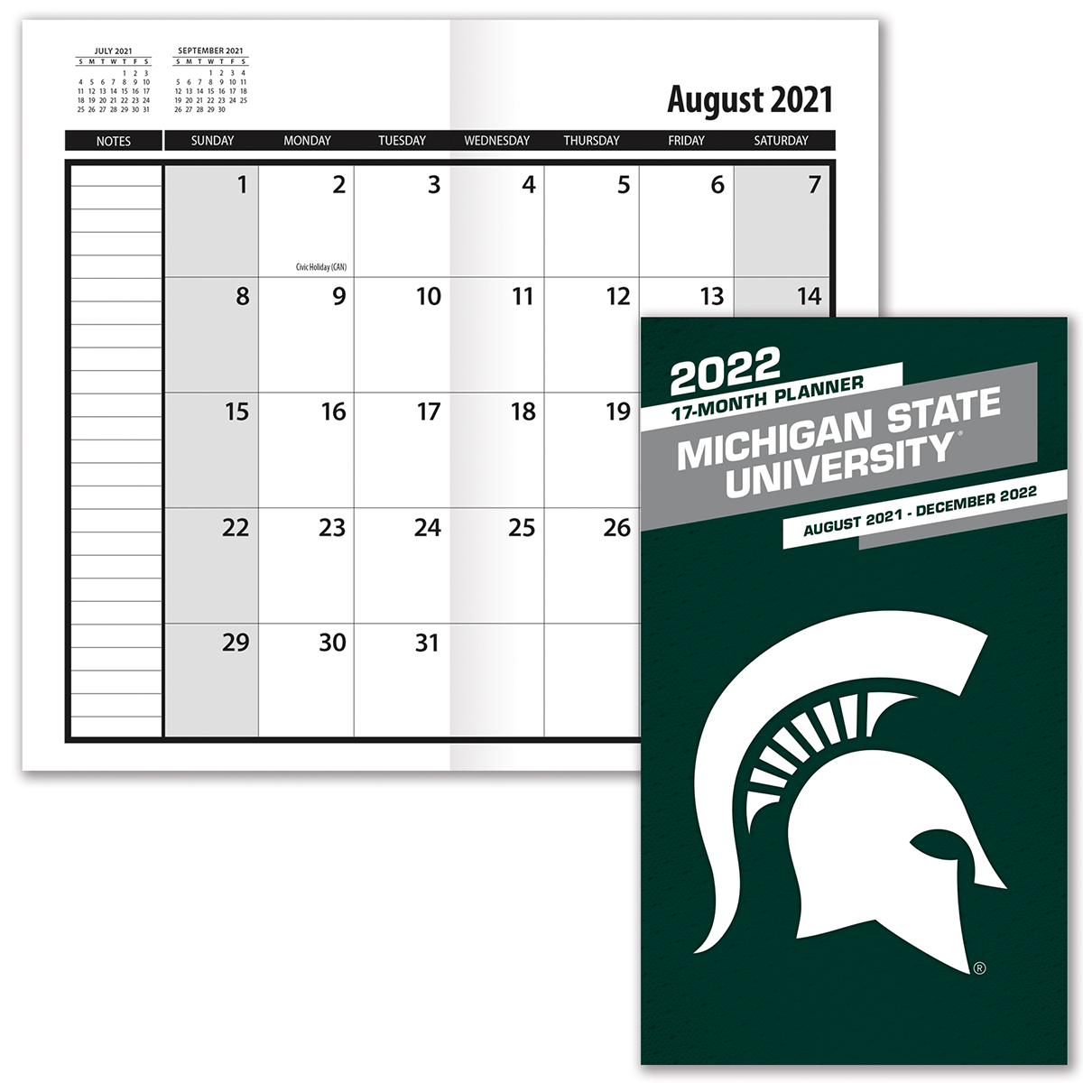 Michigan State Spartans 2019-20 Academic Planner