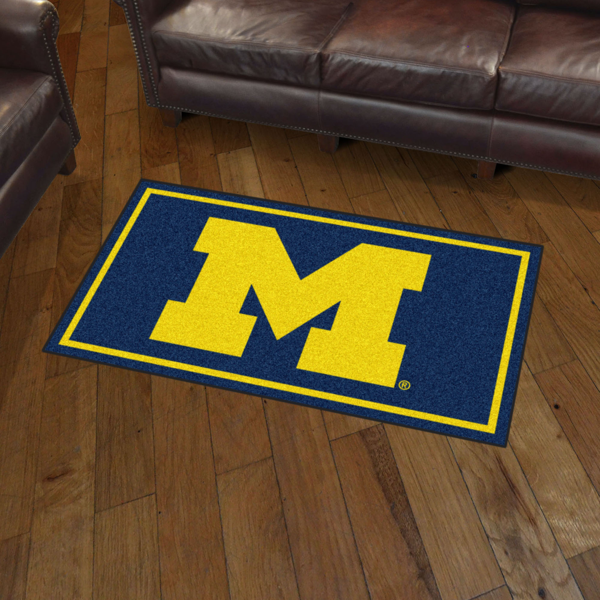 Fanmats Seattle Seahawks 3 Ft X 6 Ft Football Field: Michigan Wolverines 3x5 Area Rug