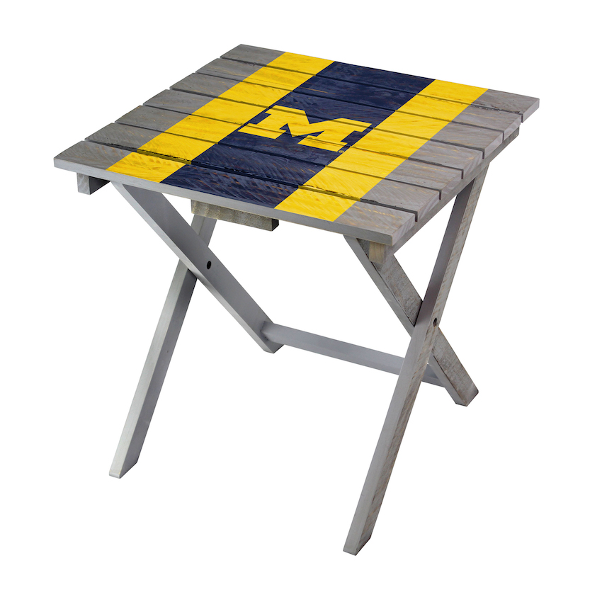 Michigan Wolverines Wooden Adirondack Folding Table