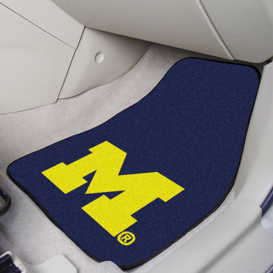 Michigan Wolverines Carpeted Car Floor Mats Buy At Khc