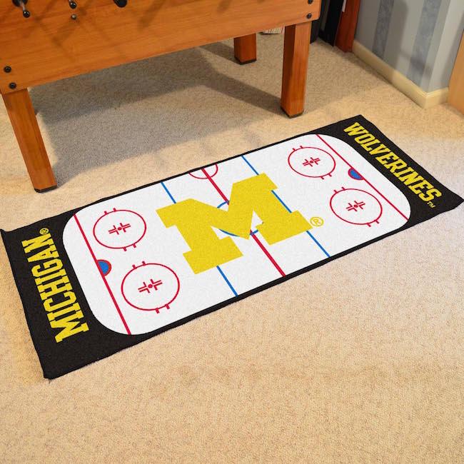 Michigan Wolverines Hockey Rink Runner 30 X 72 Floor Mat