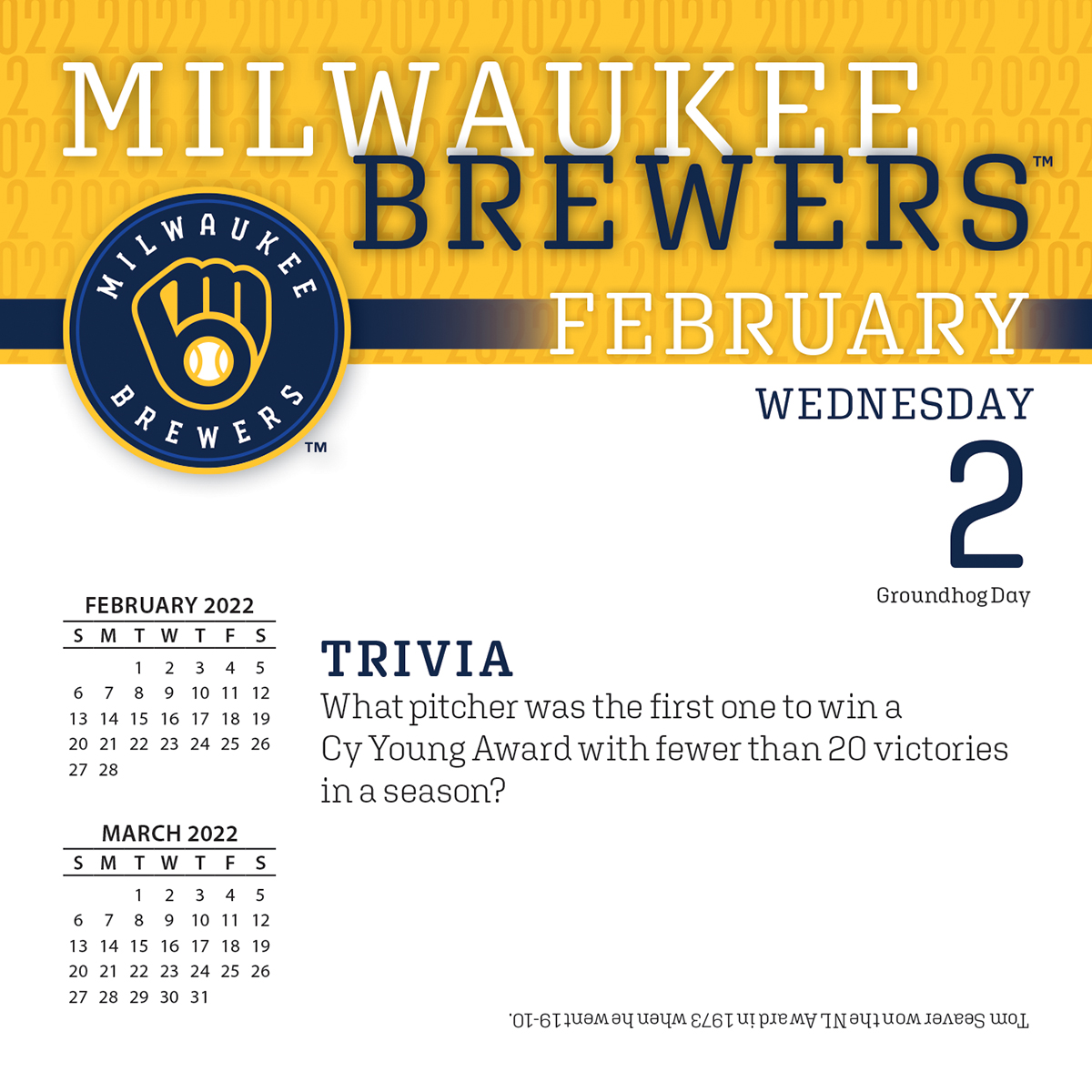 Milwaukee Brewers 2018 Page A Day Box Calendar Buy At