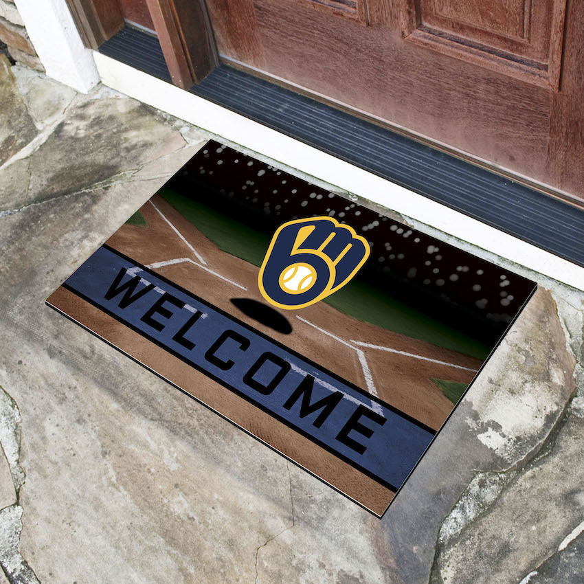 Milwaukee Brewers Recycled Crumb Rubber Door Mat