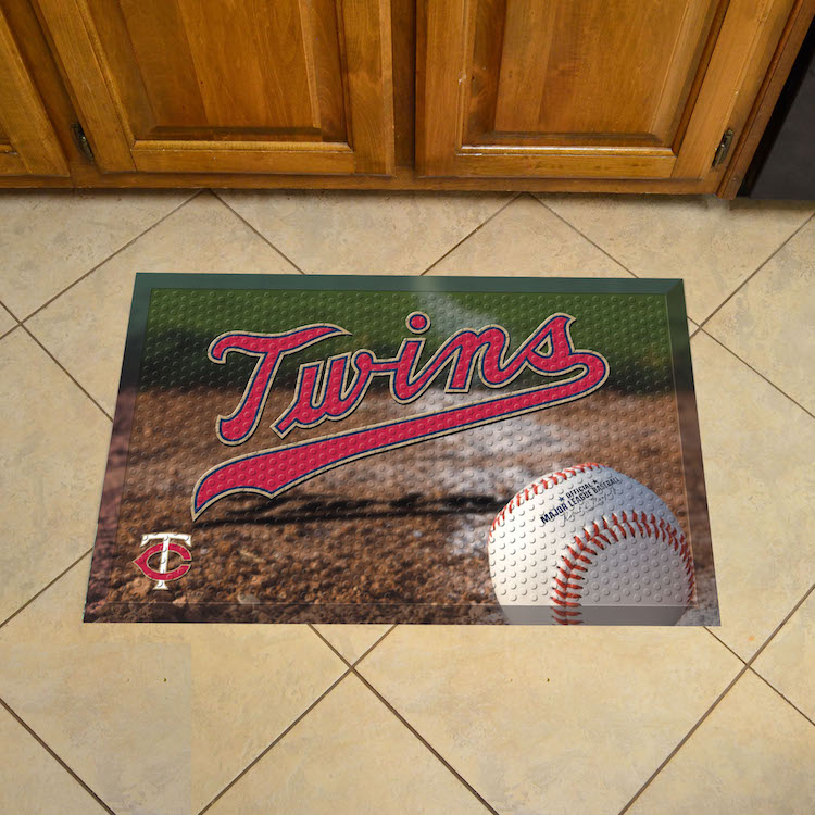 Minnesota Twins Ball Style SCRAPER Door Mat