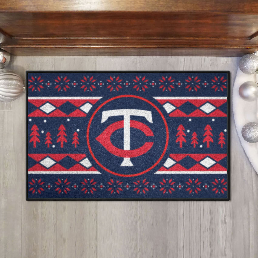Minnesota Twins HOLIDAY SWEATER 20 x 30 STARTER Floor Mat