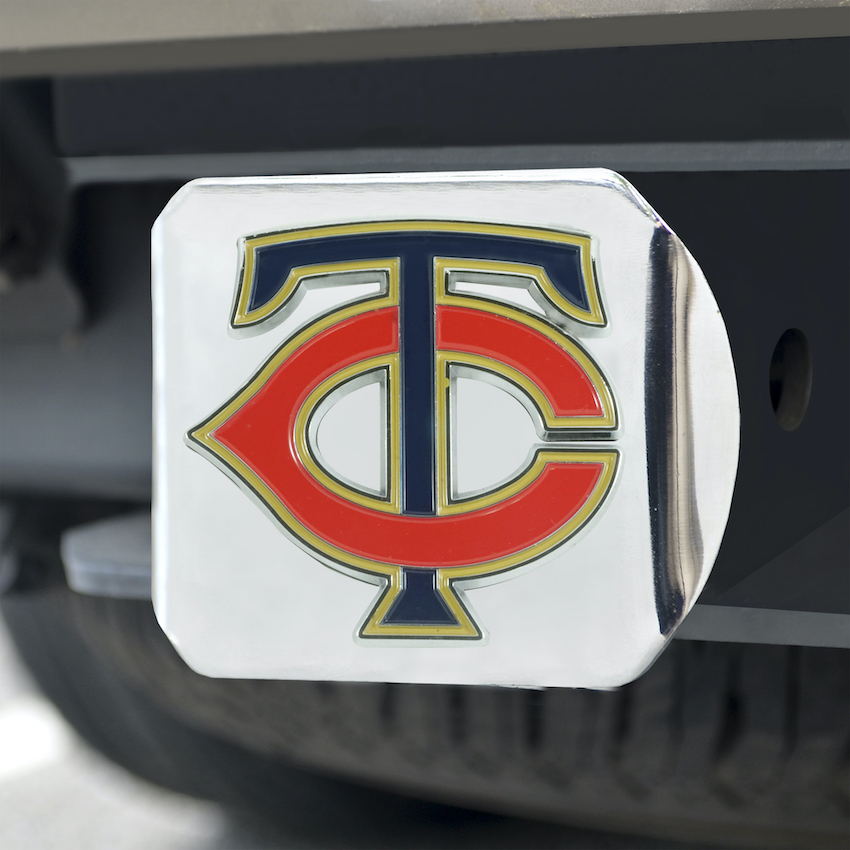 Minnesota Twins Color Chrome Trailer Hitch Cover
