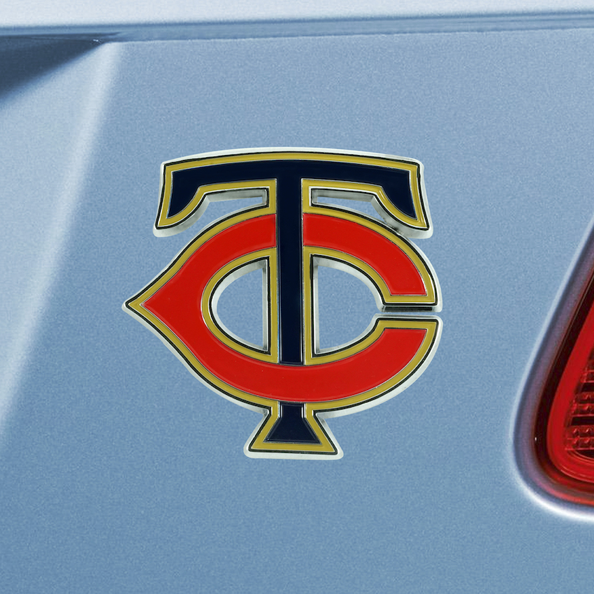 Minnesota Twins Color Metal Auto Emblem