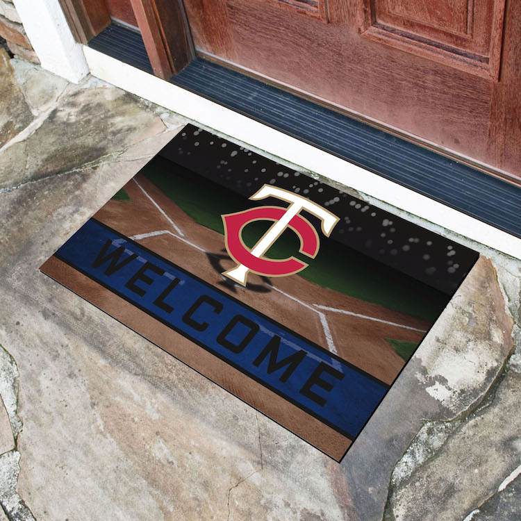 Minnesota Twins Recycled Crumb Rubber Door Mat