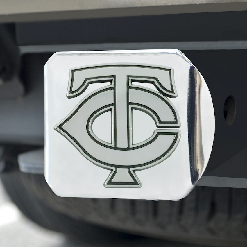 Minnesota Twins Chrome Trailer Hitch Cover